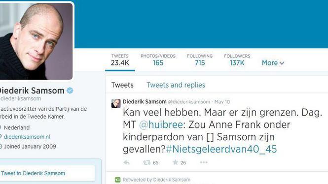 De constante stroom grove en beledigende reacties deden PvdA-leider Samsom afscheid nemen van Twitter.